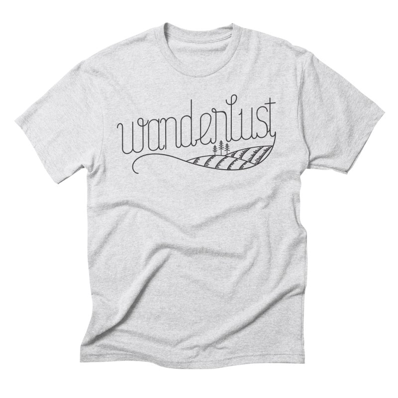 Wanderlust - Trees Men's Triblend T-Shirt by zavatee's Artist Shop