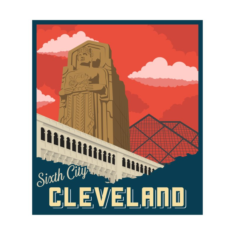 Vintage Cleveland Men's Triblend T-Shirt by zavatee's Artist Shop
