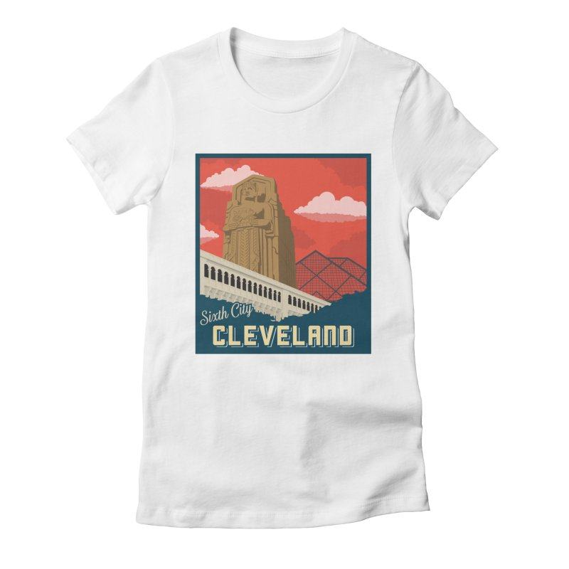 Vintage Cleveland Women's Fitted T-Shirt by zavatee's Artist Shop