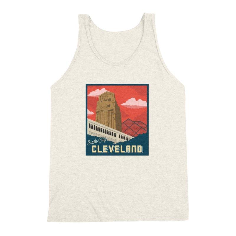 Vintage Cleveland Men's Triblend Tank by zavatee's Artist Shop