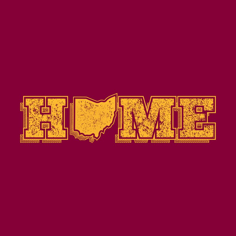 Home - Ohio (Gold) None  by zavatee's Artist Shop