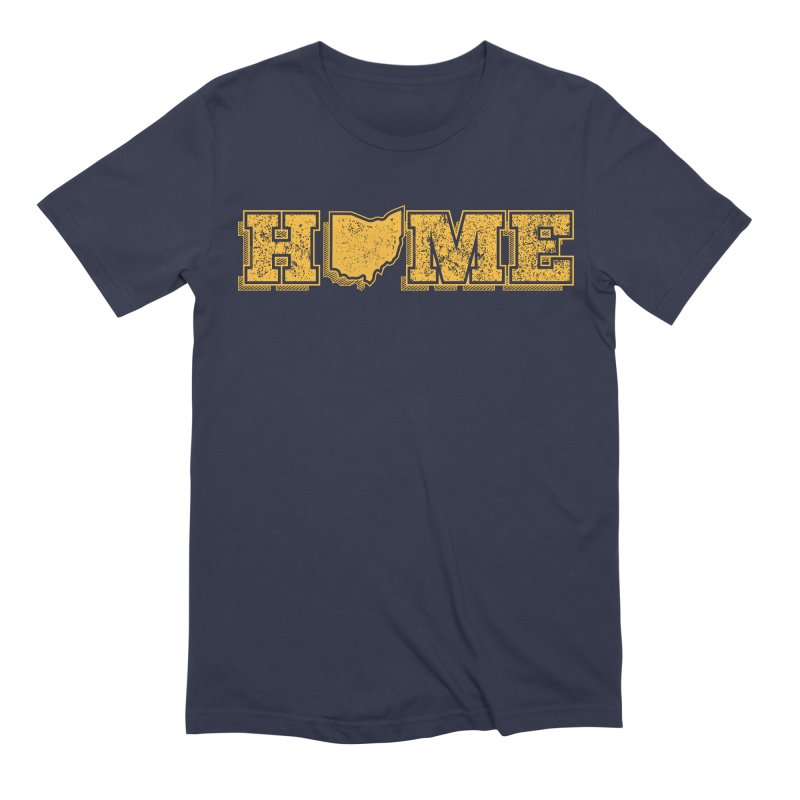 Home - Ohio (Gold) Men's Extra Soft T-Shirt by zavatee's Artist Shop