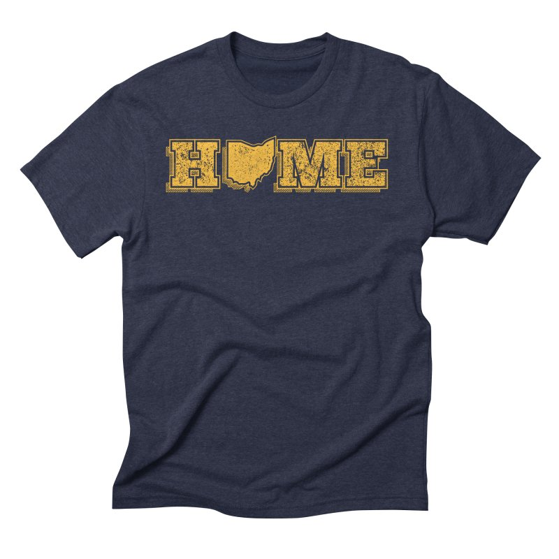 Home - Ohio (Gold) Men's Triblend T-Shirt by zavatee's Artist Shop