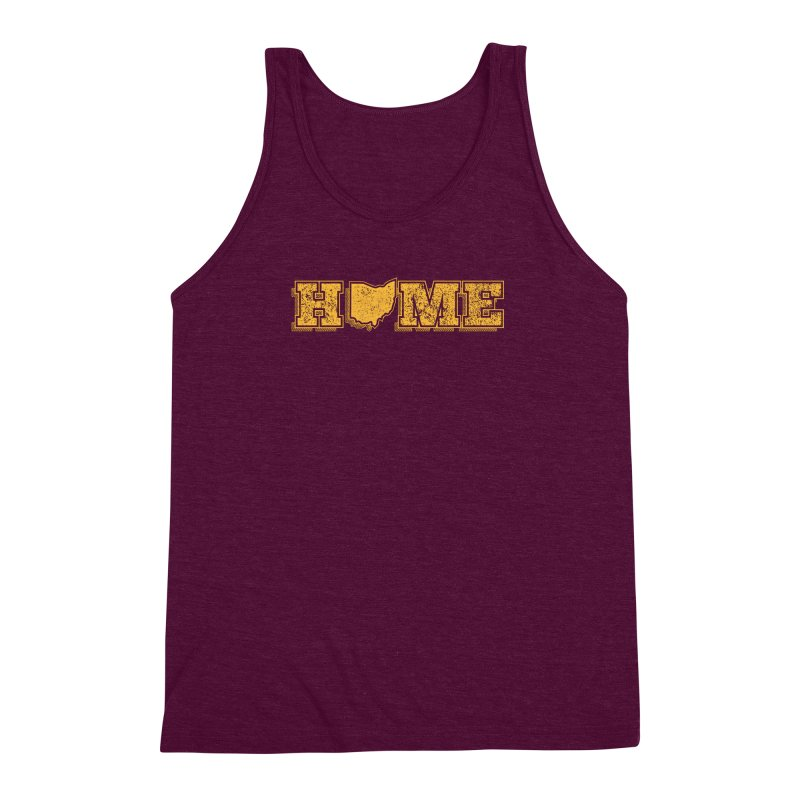 Home - Ohio (Gold) Men's Triblend Tank by zavatee's Artist Shop