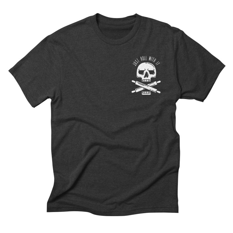 Just roll with it in Men's Triblend T-Shirt Heather Onyx by zavatee's Artist Shop