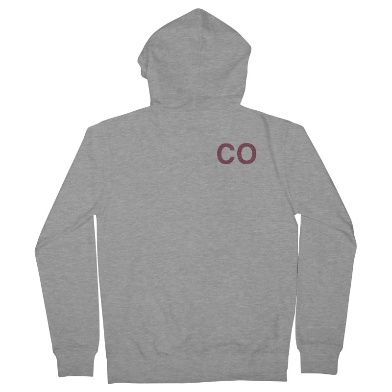 Colorado - CO Men's French Terry Zip-Up Hoody by zavatee's Artist Shop