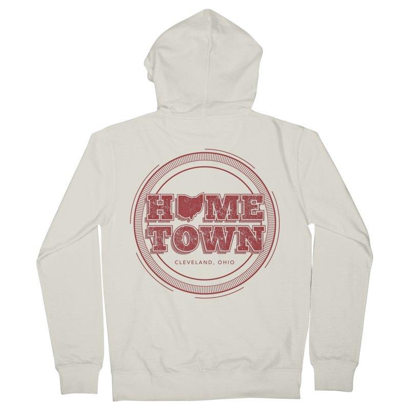 Hometown - Cleveland Men's Zip-Up Hoody by zavatee's Artist Shop