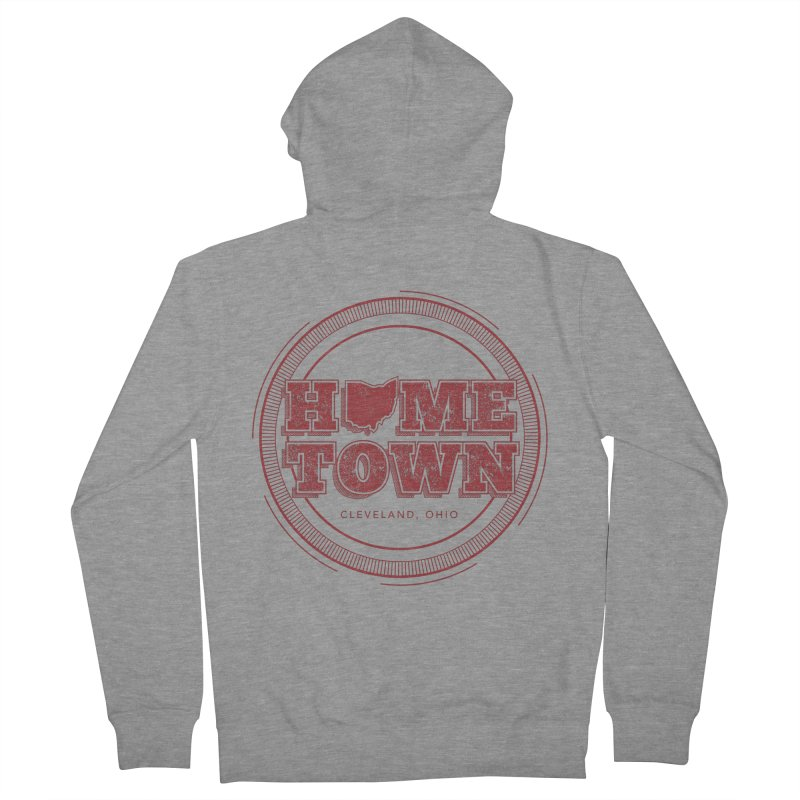 Hometown - Cleveland Men's French Terry Zip-Up Hoody by zavatee's Artist Shop