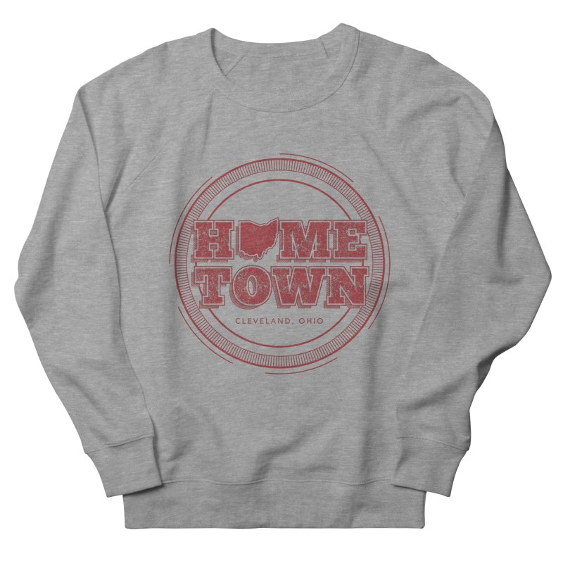 Hometown - Cleveland Men's French Terry Sweatshirt by zavatee's Artist Shop
