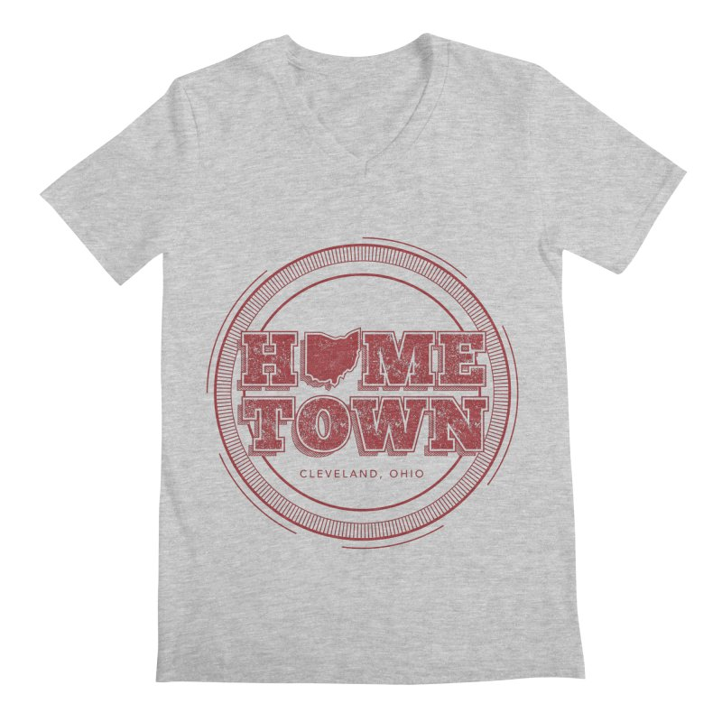 Hometown - Cleveland Men's Regular V-Neck by zavatee's Artist Shop