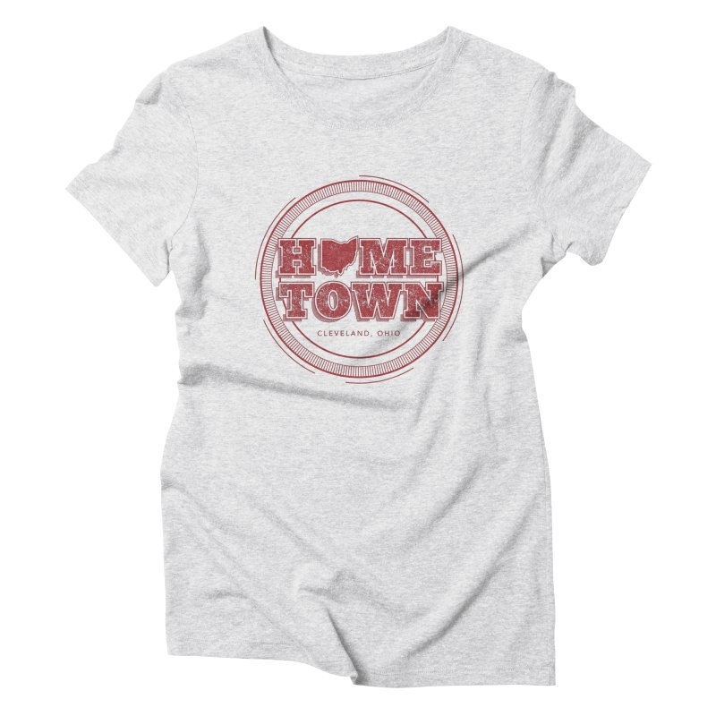 Hometown - Cleveland Women's Triblend T-Shirt by zavatee's Artist Shop