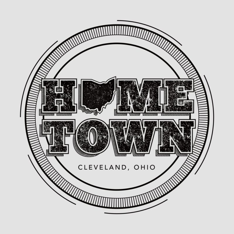 Hometown - Cleveland (Black) by zavatee's Artist Shop