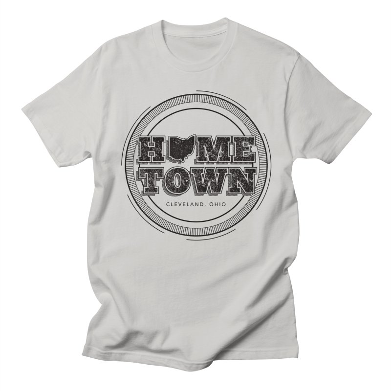 Hometown - Cleveland (Black) Men's T-Shirt by zavatee's Artist Shop
