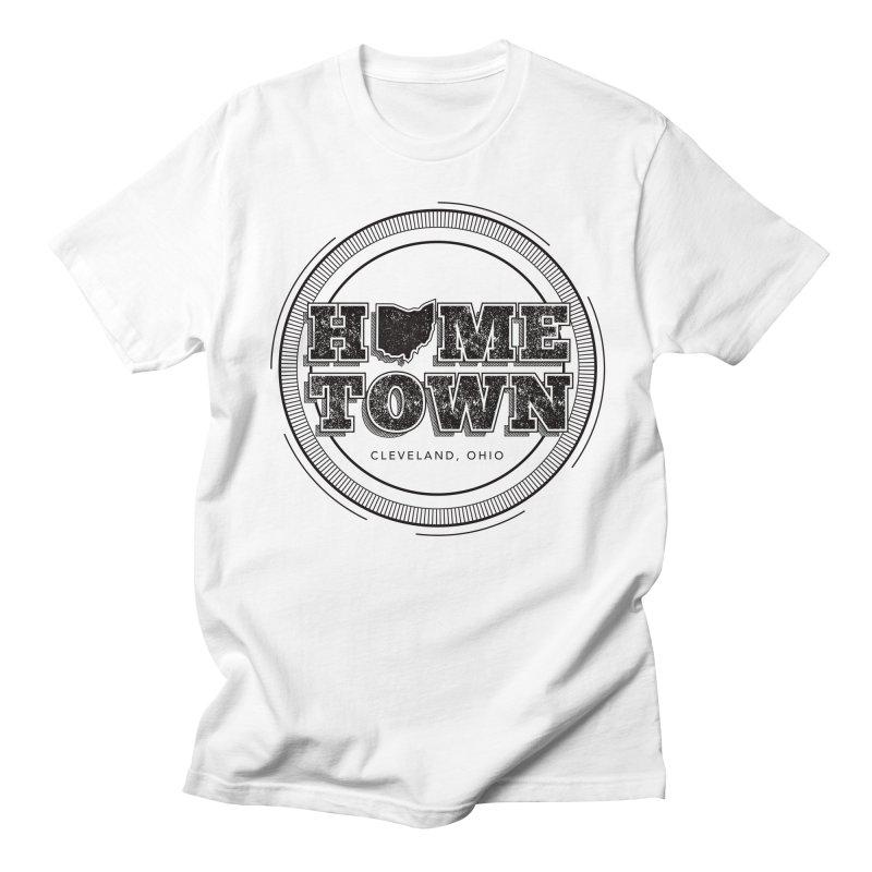 Hometown - Cleveland (Black) Men's T-Shirt by zavatee's Artist Shop
