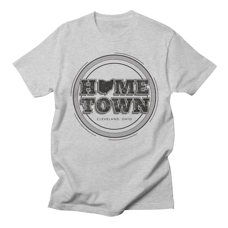Hometown - Cleveland (Black) Men's Regular T-Shirt by zavatee's Artist Shop