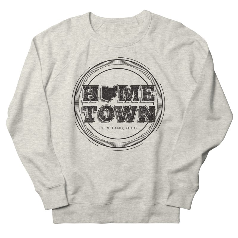 Hometown - Cleveland (Black) Men's French Terry Sweatshirt by zavatee's Artist Shop