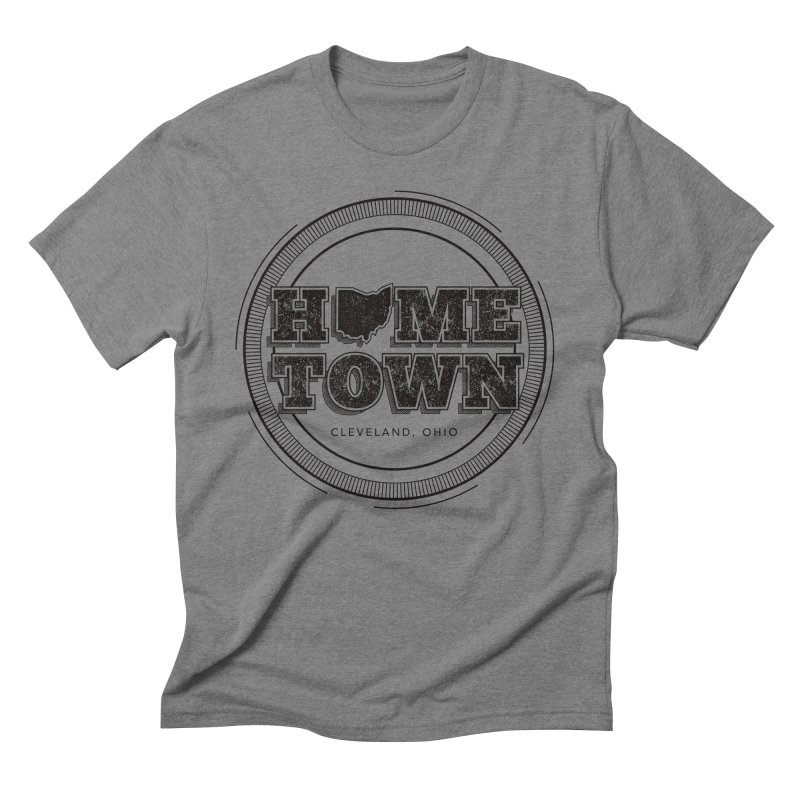 Hometown - Cleveland (Black) Men's Triblend T-Shirt by zavatee's Artist Shop