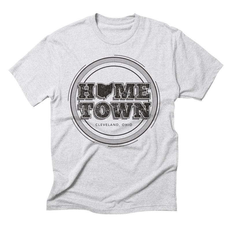 Hometown - Cleveland (Black) Men's Triblend T-Shirt by zavatee's Artist Shop