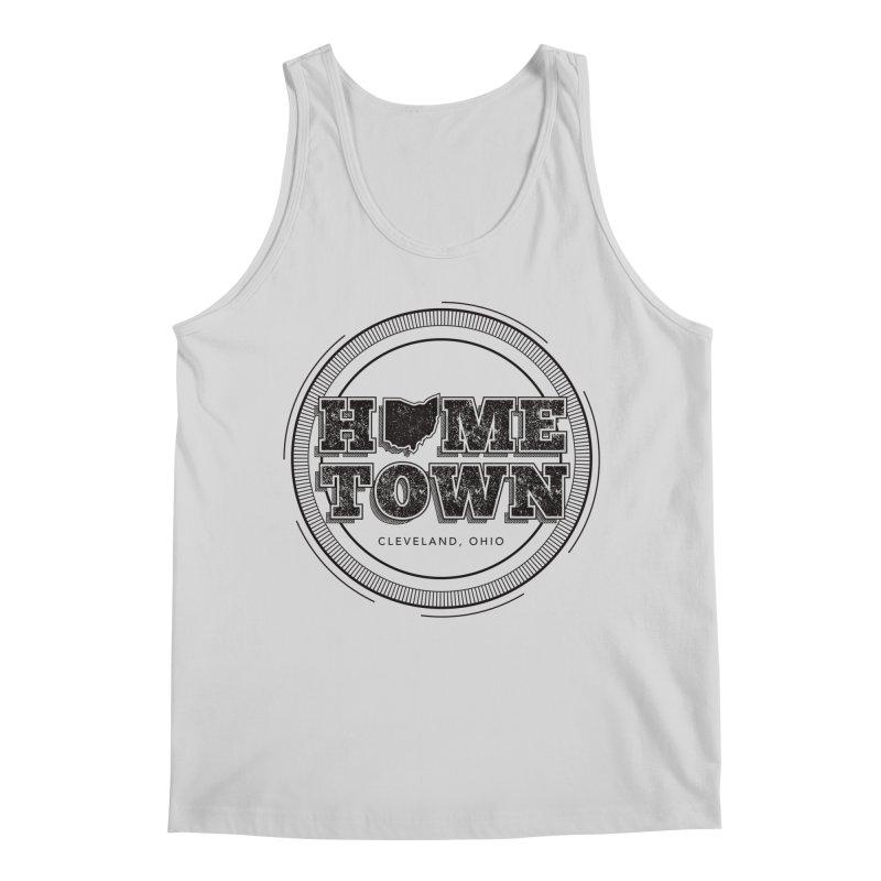 Hometown - Cleveland (Black) Men's Regular Tank by zavatee's Artist Shop