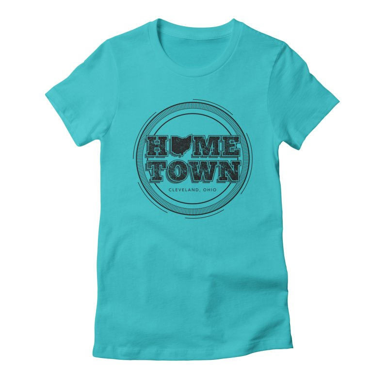 Hometown - Cleveland (Black) Women's T-Shirt by zavatee's Artist Shop