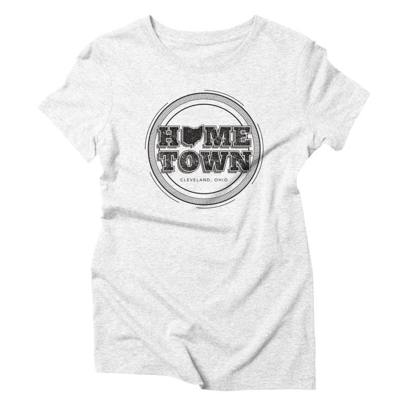 Hometown - Cleveland (Black) Women's Triblend T-shirt by zavatee's Artist Shop