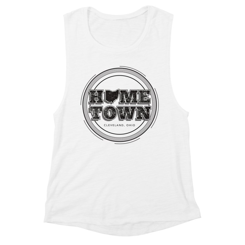 Hometown - Cleveland (Black) Women's Tank by zavatee's Artist Shop