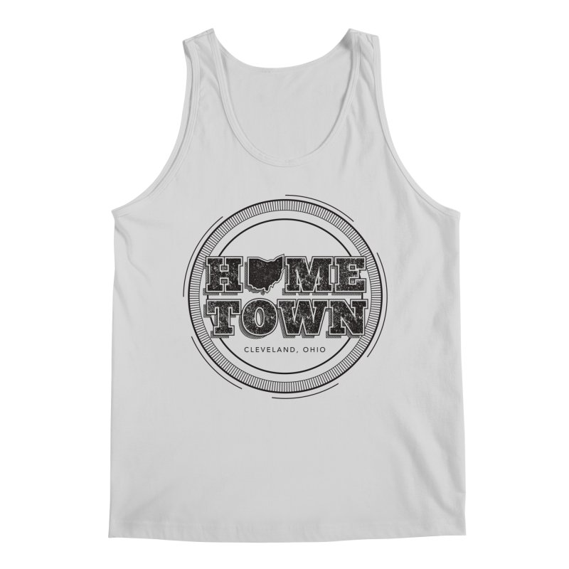 Hometown - Cleveland (Black) Men's Regular Tank by zavatee's Artist Shop