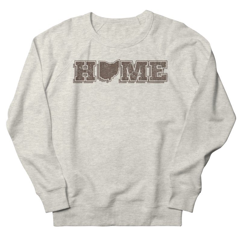 Home - Ohio Men's French Terry Sweatshirt by zavatee's Artist Shop