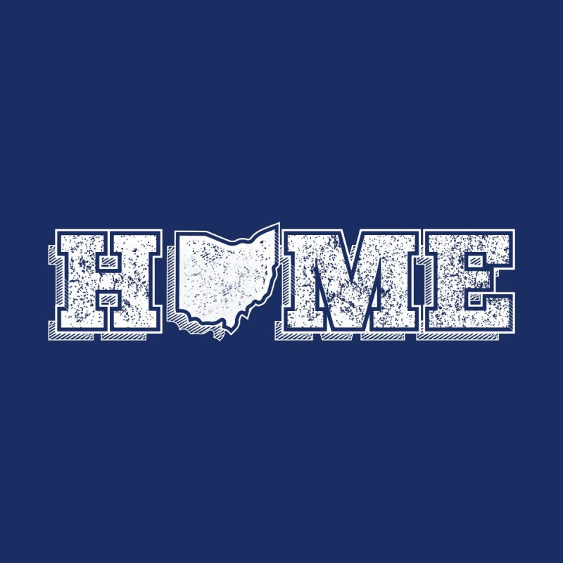Home - Ohio (White) None  by zavatee's Artist Shop