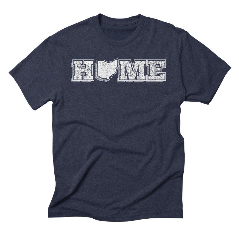 Home - Ohio - Dark in Men's Triblend T-Shirt Navy by zavatee's Artist Shop