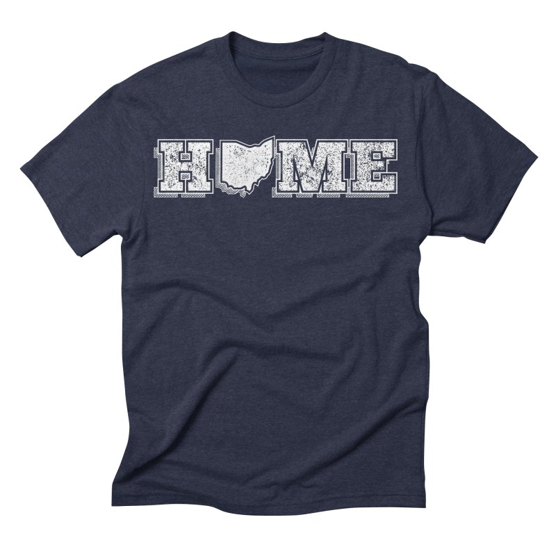 Home - Ohio (White) Men's Triblend T-shirt by zavatee's Artist Shop