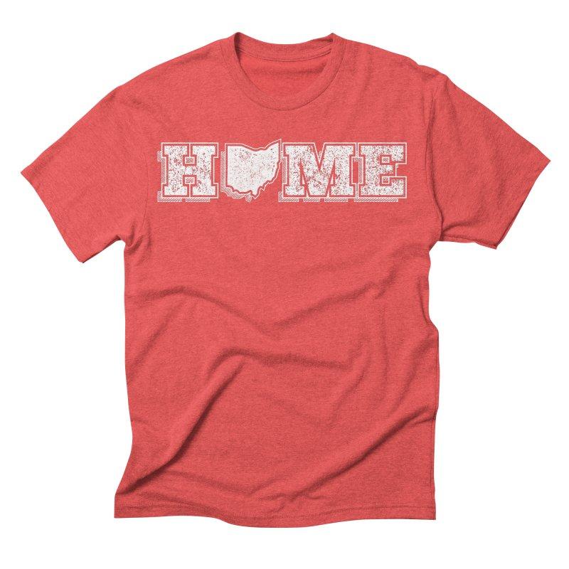 Home - Ohio (White) Men's Triblend T-shirt by zavatee's Artist Shop