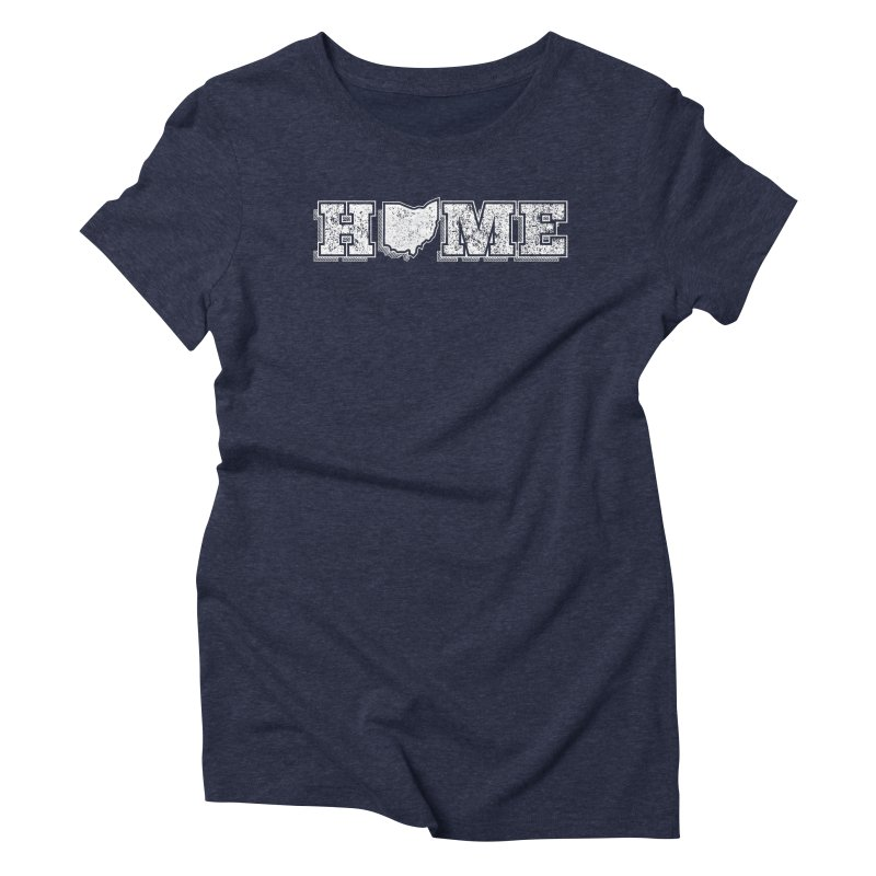 Home - Ohio (White) Women's Triblend T-Shirt by zavatee's Artist Shop