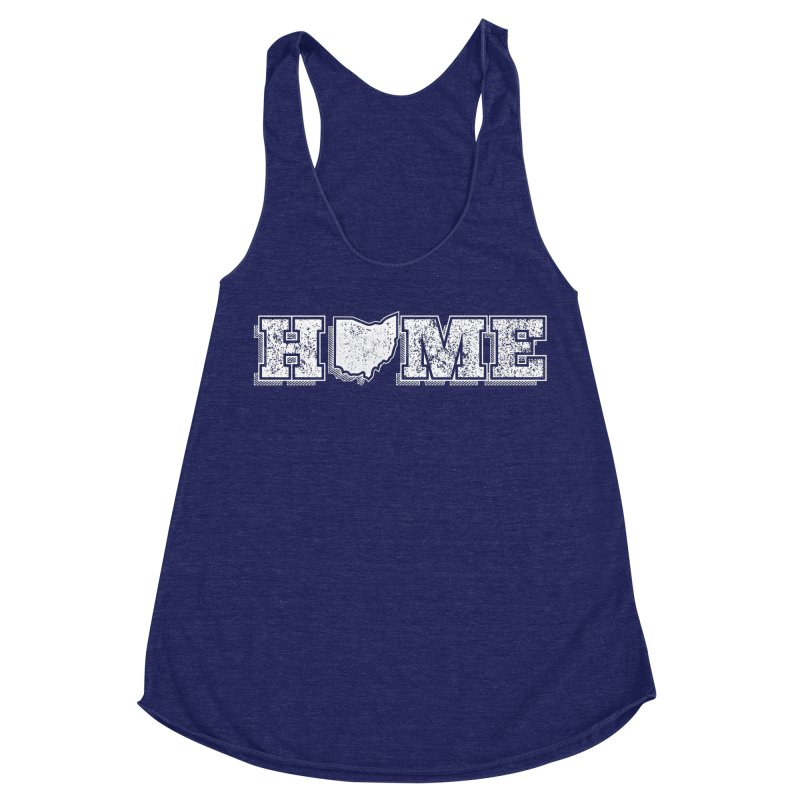 Home - Ohio - Dark Women's Racerback Triblend Tank by zavatee's Artist Shop