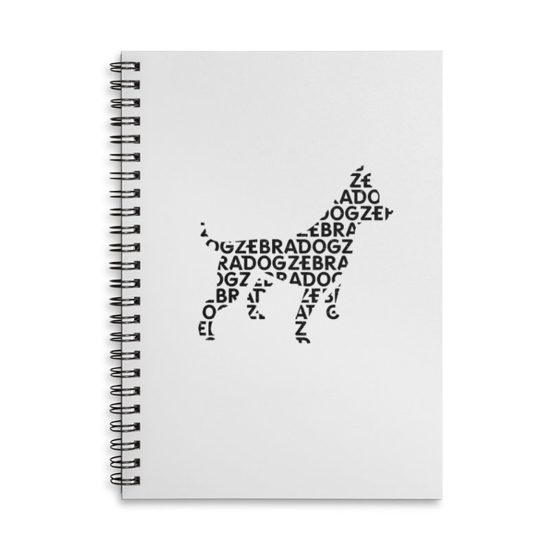 Alphabet Zoup Accessories Lined Spiral Notebook by Zebradog Apparel & Accessories