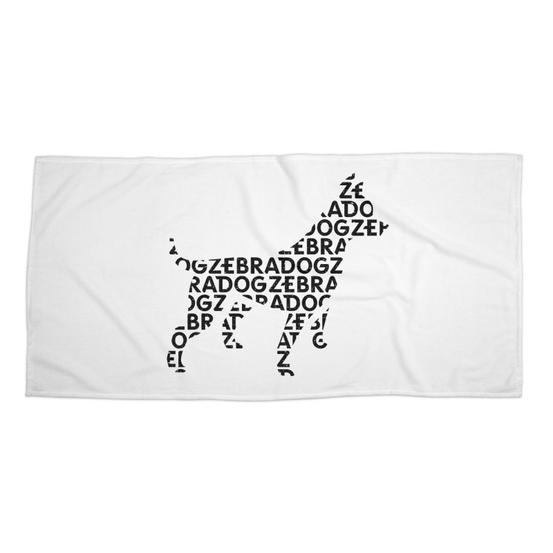 Alphabet Zoup Accessories Beach Towel by Zebradog Apparel & Accessories