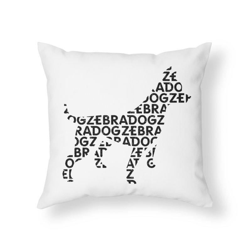 Alphabet Zoup Home Throw Pillow by Zebradog Apparel & Accessories