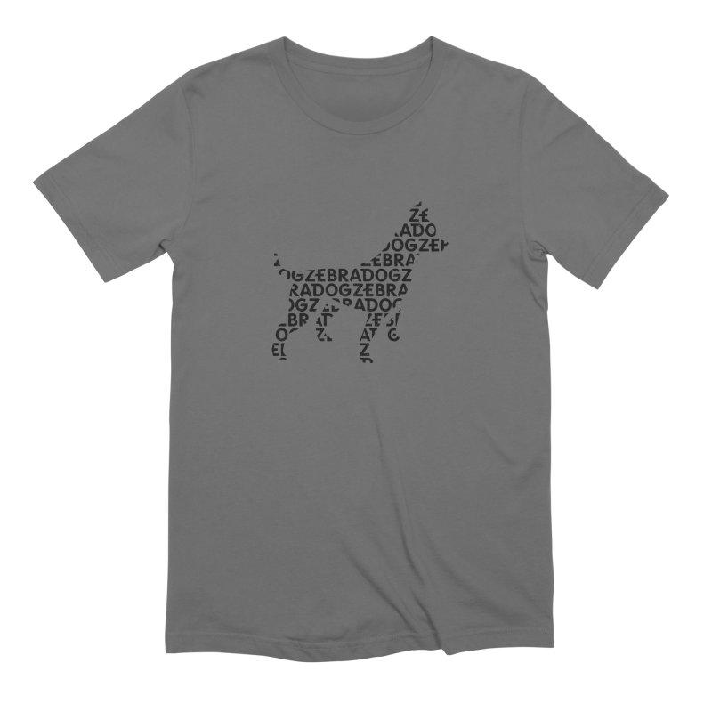 Alphabet Zoup Men's Extra Soft T-Shirt by Zebradog Apparel & Accessories