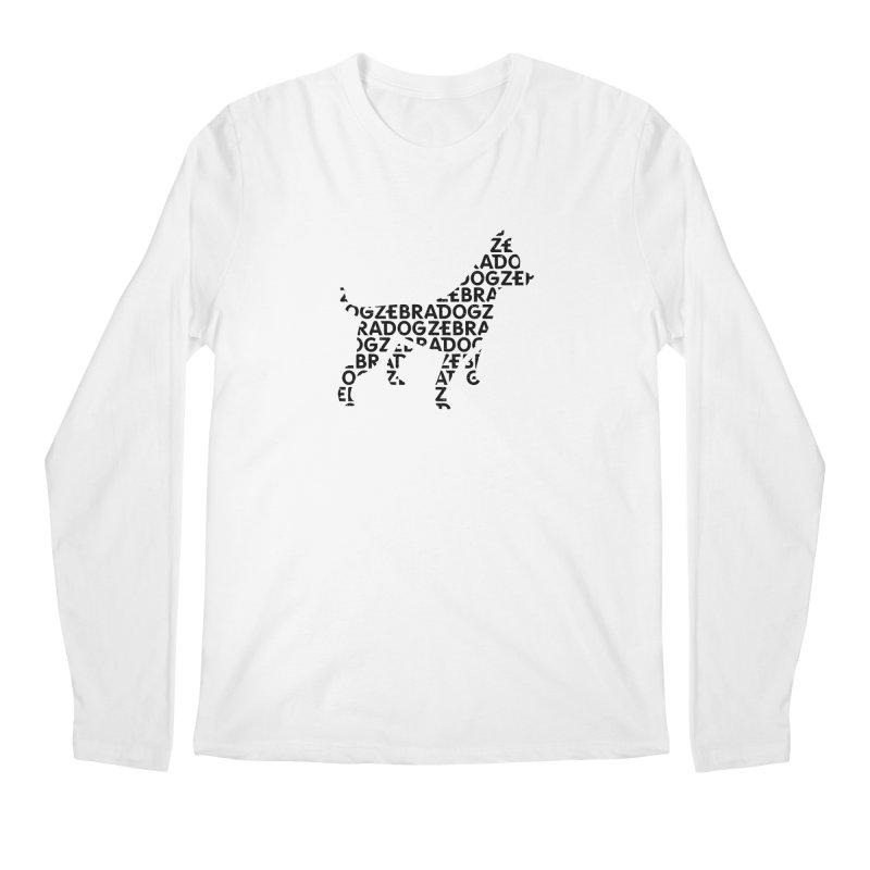 Alphabet Zoup Men's Regular Longsleeve T-Shirt by Zebradog Apparel & Accessories