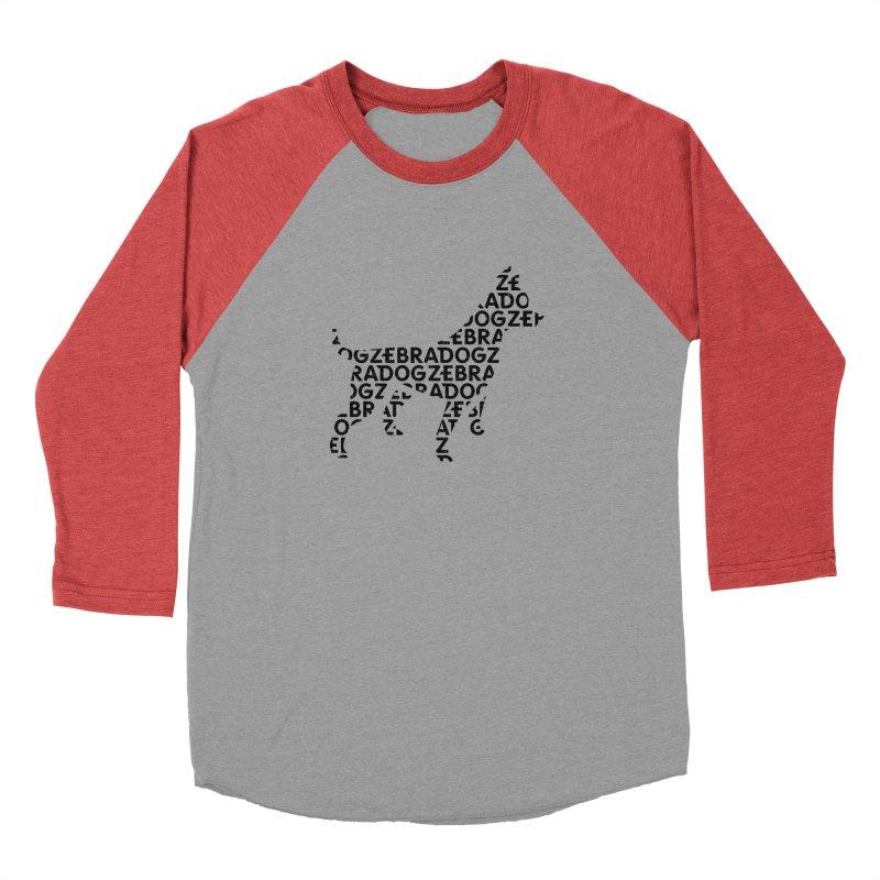 Alphabet Zoup Men's Baseball Triblend Longsleeve T-Shirt by Zebradog Apparel & Accessories