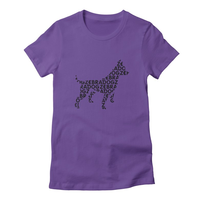 Alphabet Zoup Women's Fitted T-Shirt by Zebradog Apparel & Accessories
