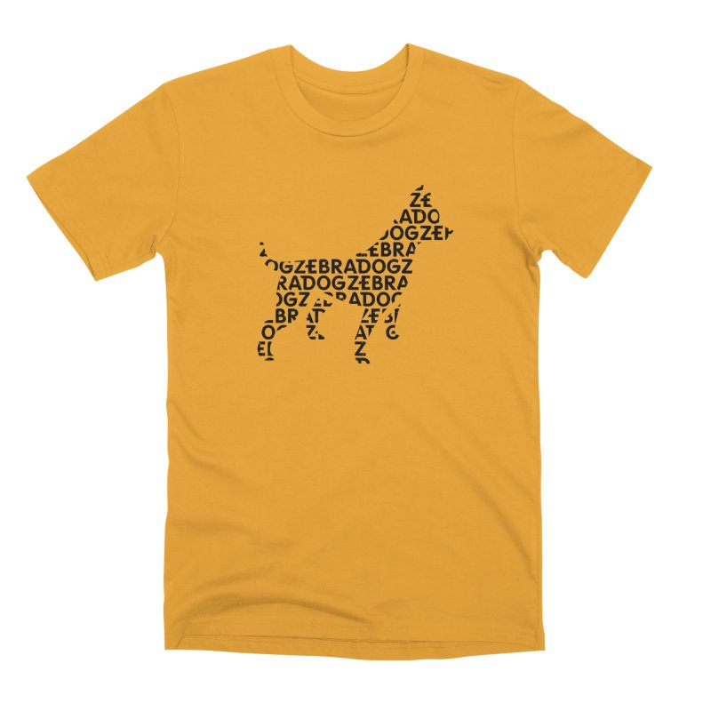 Alphabet Zoup Men's T-Shirt by Zebradog Apparel & Accessories