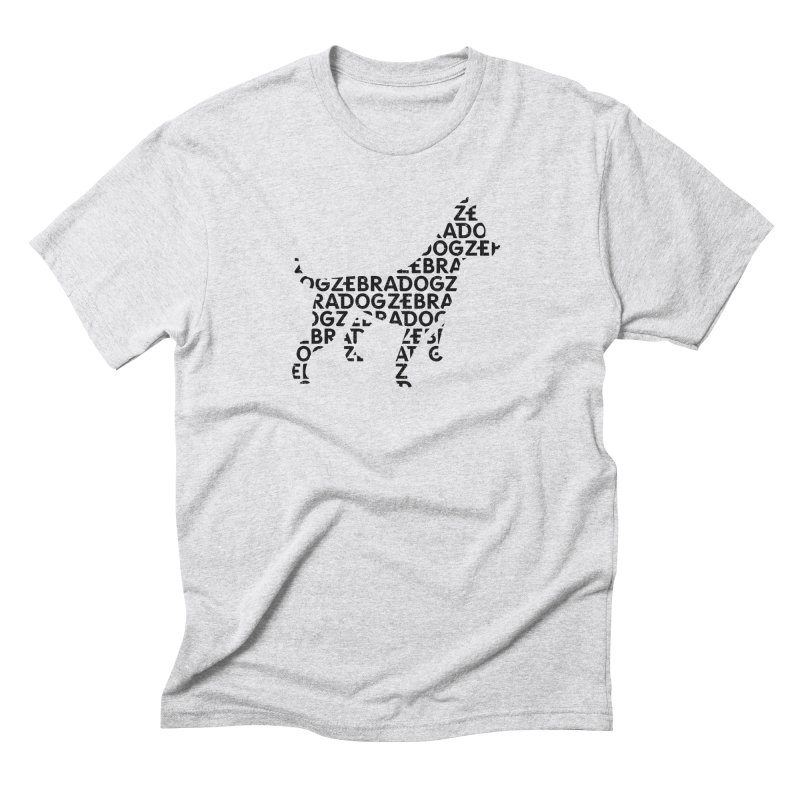 Alphabet Zoup Men's Triblend T-Shirt by Zebradog Apparel & Accessories