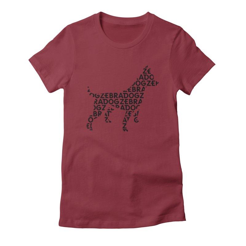 Alphabet Zoup Women's Fitted T-Shirt by Zebradog Apparel & Accessories