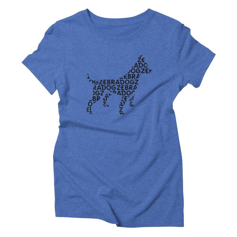 Alphabet Zoup Women's T-Shirt by Zebradog Apparel & Accessories