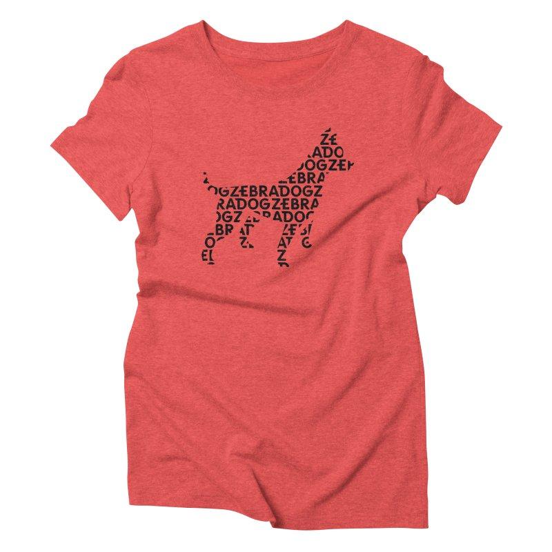 Alphabet Zoup Women's Triblend T-Shirt by Zebradog Apparel & Accessories