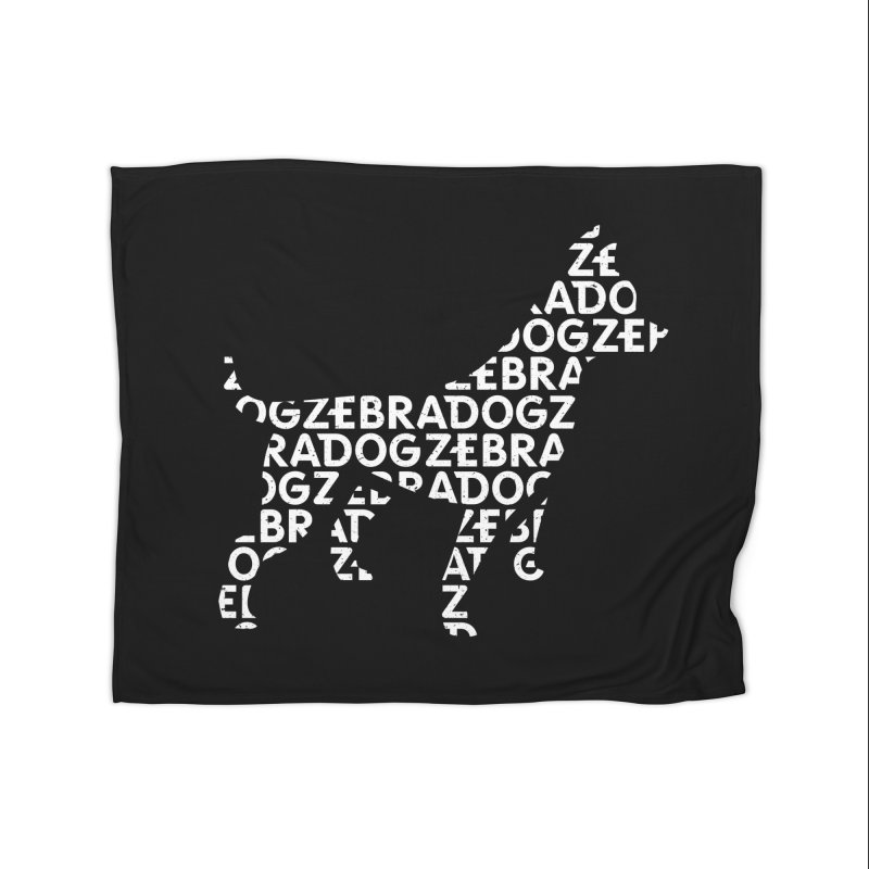 Alphabet Zoup White Home Fleece Blanket Blanket by Zebradog Apparel & Accessories