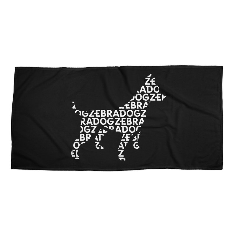 Alphabet Zoup White Accessories Beach Towel by Zebradog Apparel & Accessories