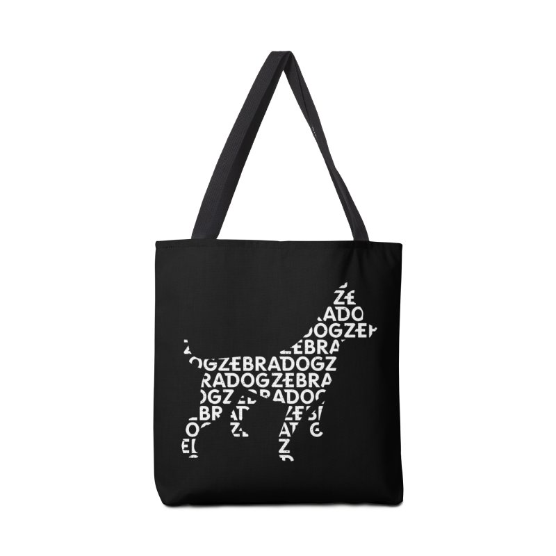 Alphabet Zoup White Accessories Bag by Zebradog Apparel & Accessories