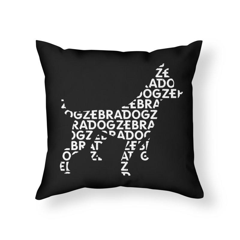 Alphabet Zoup White Home Throw Pillow by Zebradog Apparel & Accessories